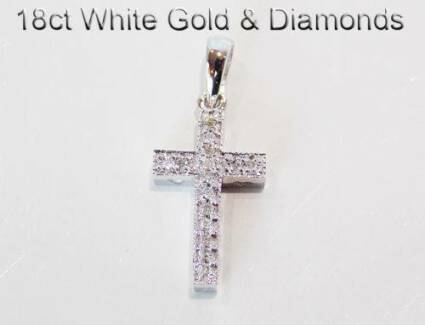 9K & 18K Gold Cross Pendant Crucifix Jewellery Baby Ladies Gents Brighton-le-sands Rockdale Area Preview