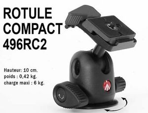 MANFROTTO... Tête 496RC2 / Compact Ball Head.