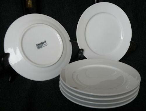 crate and barrel white plates ebay. Black Bedroom Furniture Sets. Home Design Ideas