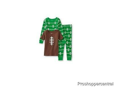 - NEW WonderKids Toddler 3-Pc Tight Fit Pajamas Set, Football - Choose Your Size