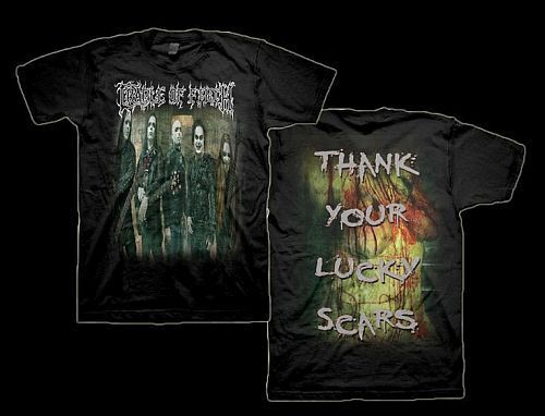 Cradle of Filth Thank Your Lucky Scars T-Shirt Black Small Black Death Metal
