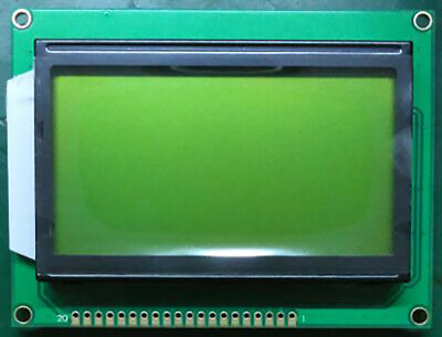 Yellow 128x64 5v Dot Matrix Cog Graphic Big Lcd Module Display Lcm Ks0107ks0108