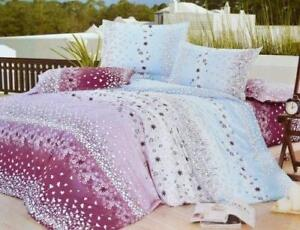 Todd Linen Cation Flower 3 Pcs Queen Set 1 Duvet Cover + 2 Pillow Case Bedding Set