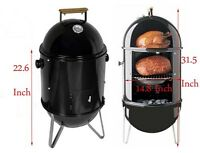 Charcoal Wood Outdoor Patio BBQ Charcoal Smoke Grill 210042