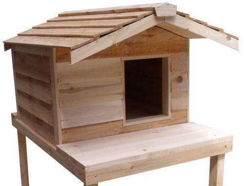 Insulated cat house ebay for Insulated dog houses for winter