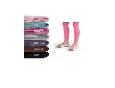 Country Kids Organic Cotton Girls Footless Tights - Size 3-5 Yrs.