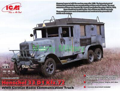 ICM 1/35 HENSCHEL 33 D1 Kfz.72 WWII GERMAN RADIO COMMUNICATION TRUCK