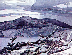 """A.J. Casson Publishers Proof """"Fraser Bay"""" Lithograph"""