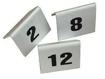 PLASTIC TABLE NUMBERS SET 1 TO 10 Restaurant cafe