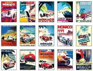 Monaco F1 Grand Prix Early Posters Trading Card Set