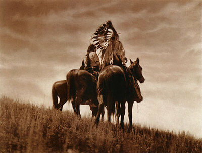 Cheyenne Warriors 22x30 Edward S. Curtis Native American Indian Art (Edwards Curtis Native American Art)