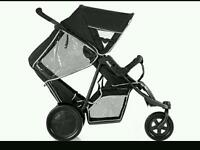 Double/single pushchair for sale
