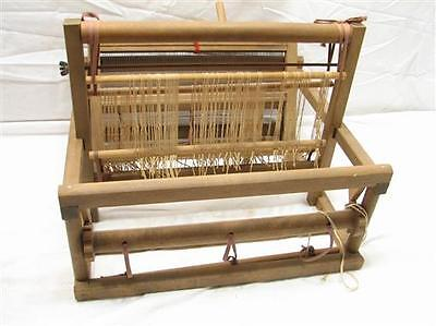 """Vintage Wooden Table Top Hand Weaving Loom Small Work Tapestry 12"""" Home Craft"""