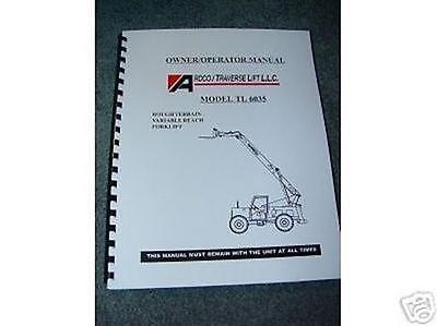 New Pettibone Traverse Forklift Tl-6035 Oper Manual