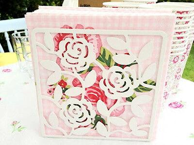 IKEA napkin holder book organizer white steel floral wall ra