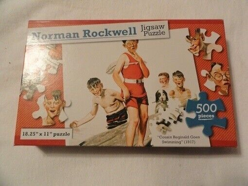 Norman Rockwell Cousin Reginald Goes Swimming Puzzle 500 piece