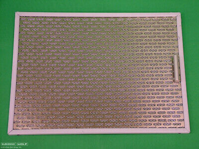 NEW WOLF GREASE FILTER for COOKTOP ISLAND HOOD MODELS CTWH30, CTWH36, IH4227 Island Cooktop Hood
