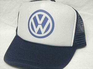 VW Trucker Hat Mesh Hat NEW Navy Snap Back Hat