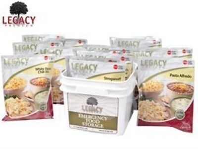 LEGACY FOOD STORAGE EMERGENCY SURVIVAL 32 SERVING 72 HOUR BUCKET NON GMO