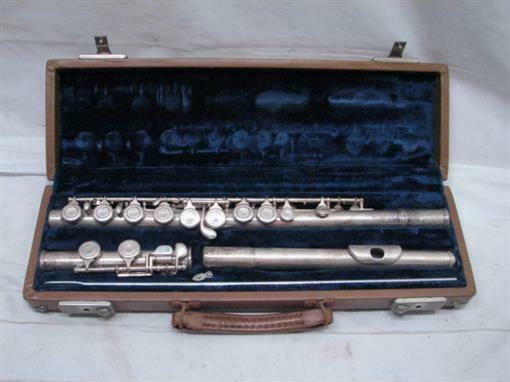 Vintage Kohlert Flute Student Model Musical Instrument Marching Band w/Case