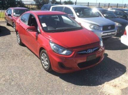 2011 Hyundai Accent sedan wrecking for parts s