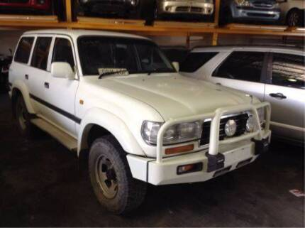 Toyota 80 Series White 4.5LT 1FZ Auto Now Wrecking A1449