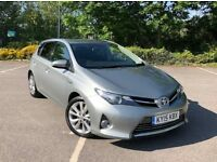 2015 TOYOTA AURIS HYBRID EXCEL AUTO 44K MILES 1.8 VVTI ELECTRIC SAT NAV UBER TAXI USE NOT PRIUS