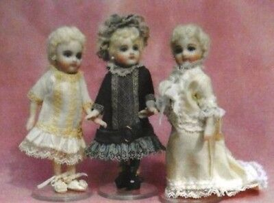 "Rare French/ German  4""  mignonette  bru doll wardrobe  dress hat pattern"
