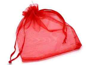 Wholesale Bulk Drawstring organza favor jewellery gift bags small& MEDIUM - UK