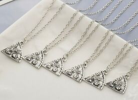 6 Slice Pizza Necklace's Lovely Gift Wedding Favours Prom Party Bags