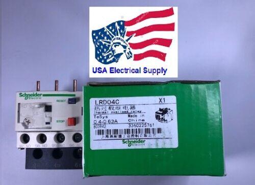 LRD04C Schneider Thermal Overload Relay  0.4-0.63 Amp.