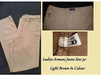Ladies Armani Jeans Size 30