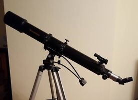 CELESTRON FIRSTSCOPE 90AZ #21084 COMES WITH LIGHT WEIGHT STAND AND 2 EYE PIECES