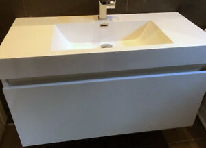 Quality Wall Mount Sink Cabinet - isolated door panel damage