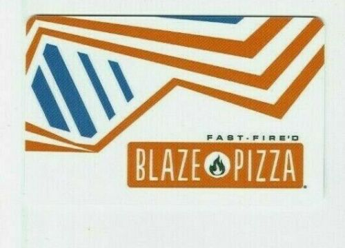 Blaze Pizza Gift Card - Restaurant - Fast Fired Pizza - No Value - I Combine