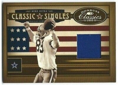 150 Classic Single (Mike Ditka 2005 Donruss Classic Singles w/ Cowboys Game Used Jersey 125/150 CS16)