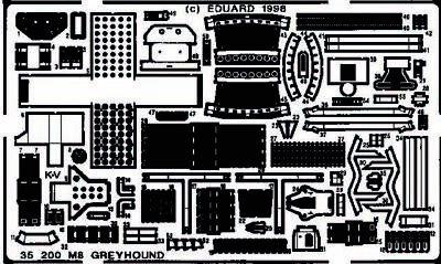 Eduard Accessories 35200 - 1:35 M8 Greyhound Detailbausatz - Ätzsatz - Neu