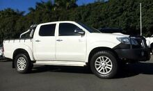 2012 Toyota Hilux KUN26R MY12 SR5 Double Cab White 5 Speed Manual Utility West Mackay Mackay City Preview