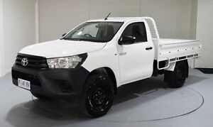 2015 Toyota Hilux GUN125R Workmate White 6 Speed Sports Automatic Cab Chassis Kings Meadows Launceston Area Preview
