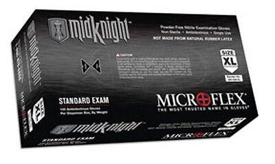 CASE MICROFLEX MK296XL MidKnight Black Nitrile Examination Gloves X LARGE (1000)