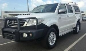 2013 Toyota Hilux KUN26R MY12 SR5 Xtra Cab White 5 Speed Manual Utility Berrimah Darwin City Preview