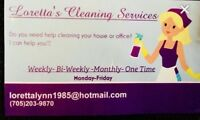 Looking for a cleaner?  Contact me :)