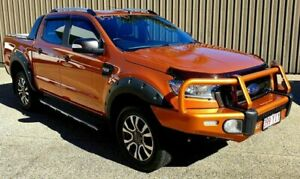 2017 Ford Ranger PX MKII Wildtra Turbo Orange Auto Seq Sportshift Dual Cab Mackay Mackay City Preview