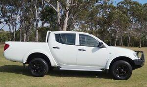 2013 Mitsubishi Triton MN MY13 GLX Double Cab White 5 Speed Manual Utility Bundaberg West Bundaberg City Preview