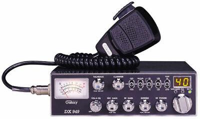 Galaxy DX-949 CB Radio 40 Channel AM/SSB/PA Mobile SWR w/Tal