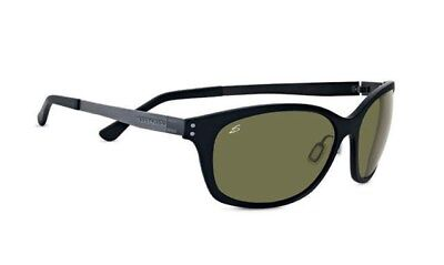 Serengeti 7831 Cosmopolitan Sara Sunglasses Polarized 555nm Satin Black (Serengeti Ladies Sunglasses)