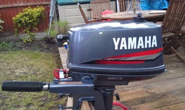 1999 Yamaha 5hp 2 Stroke Outboard Engine Model 5mshx border=