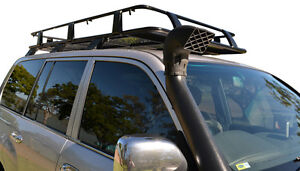 Toyota-Land-Cruiser-100-Series-Steel-Roof-Rack-Basket-Black-New-incl-Brackets
