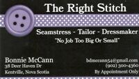 Seamstress & Tailoring Services