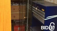 Furnitures, Blue tool chest, Microwave and more for sale.
